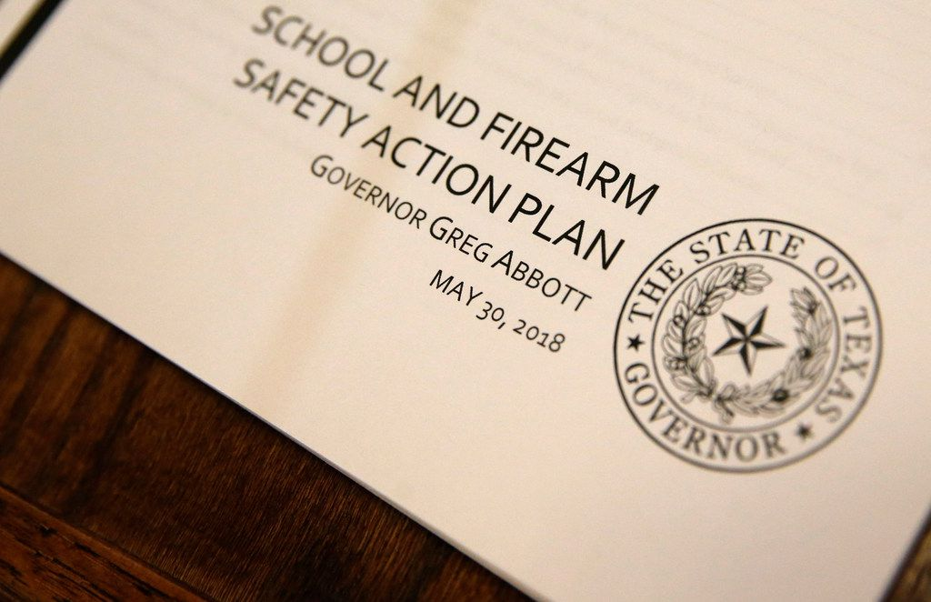 Governor Greg Abbott's School and Firearm Safety Action Plan to enhance school safety