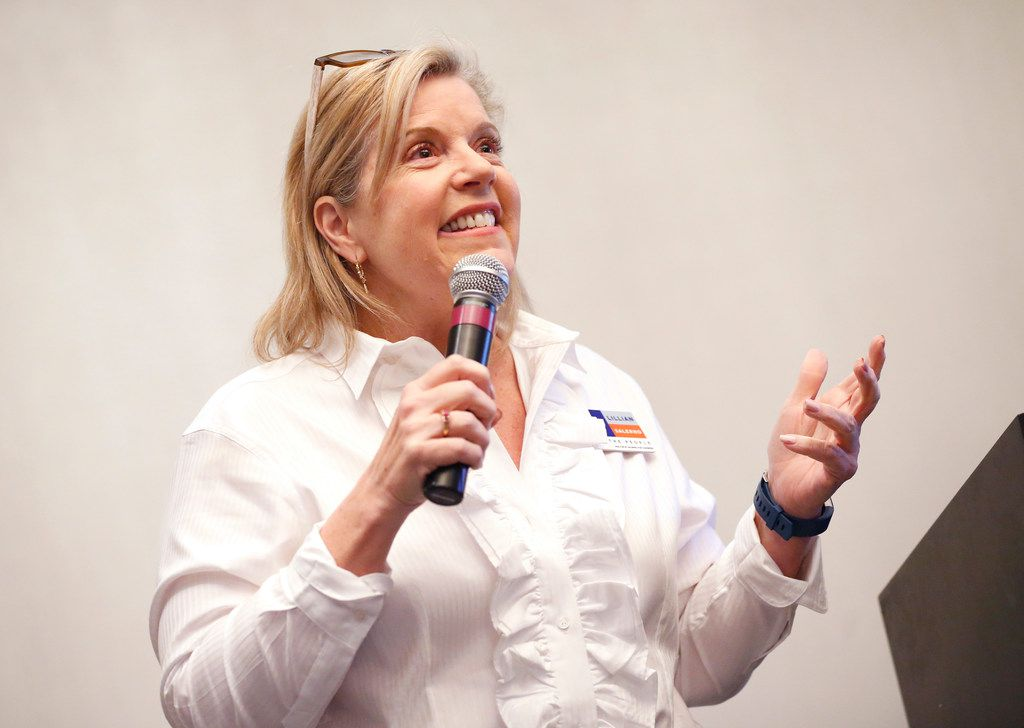 Democrat Lillian Salerno finished second, with just over 18 percent of the vote, in Tuesday's primary. She will face front-runner Colin Allred in a May 22 runoff for the right to face Republican incumbent Pete Sessions.
