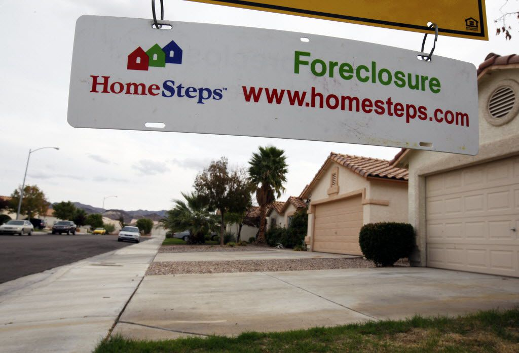 A home under foreclosure in Henderson, Nev., Oct. 23, 2010. New rules issued by the Consumer Financial Protection Bureau that begin Jan. 10, 2014 require that lenders take steps to make sure a borrower can afford to repay a home loan, based on income, debts and credit history. (Ruth Fremson/The New York Times) 01092014xBRIEFING