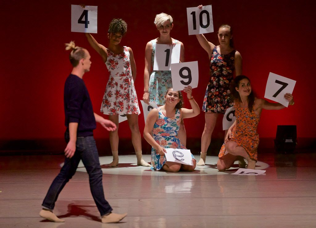 Dancers play a numbers game at last year's inaugural Wanderlust Dance Project show.
