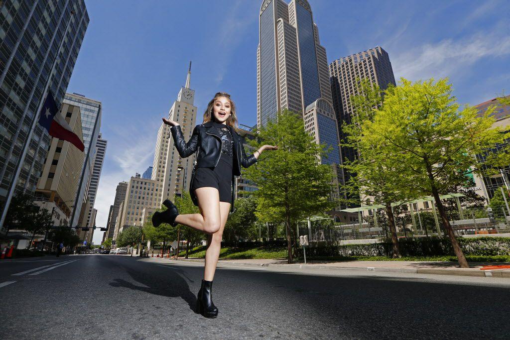 Karol Sevilla en abril en Dallas. (Nathan Hunsinger/The Dallas Morning News)