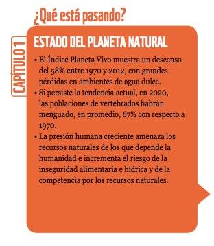 Fuente: Planeta Vivo 2016, WWF