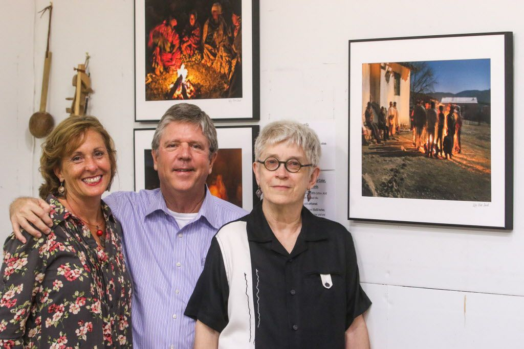 Margaret Schwab, Sanders Campbell and artist Martha Moser at the Continental Gin Building Open Studios on April 18, 2015