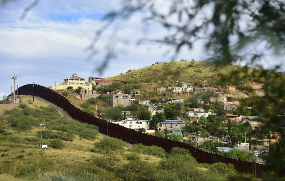 The state of Sonora on the Mexico side of the border is seen across the border wall from Nogales, Arizona.