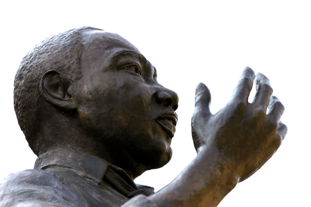 Some of the activities commemorating the life of Dr. Martin Luther King Jr. are happening at the King statue (shown here) at the Martin Luther King Jr. Community Center in South Dallas.
