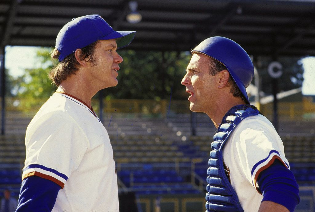 """Tim Robbins and Kevin Coster in """"Bull Durham"""""""