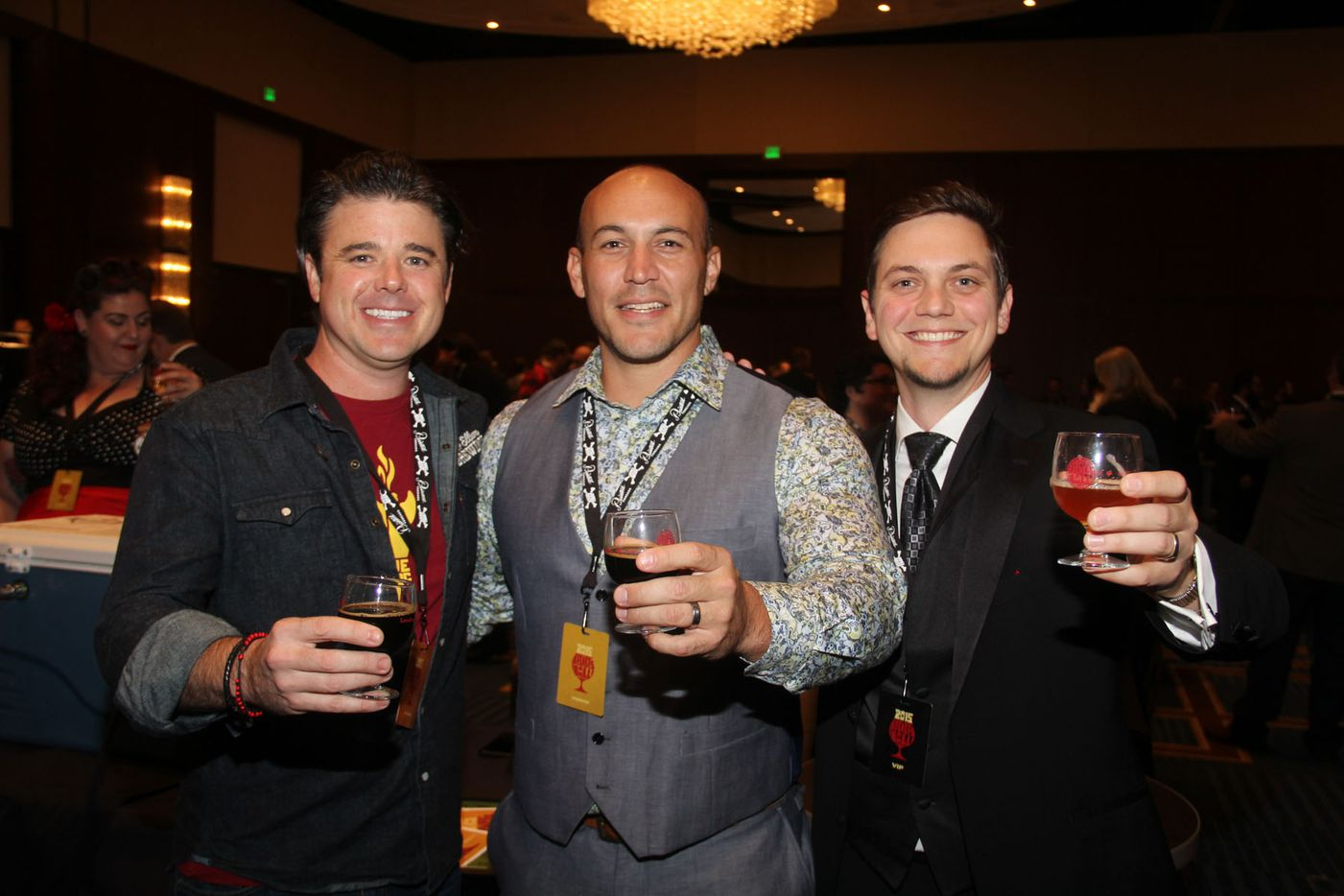 NTX Beer Week held its Second Annual Brewers Ball at the Renaissance Dallas Hotel on November 13, 2015. Zack Fickey, Garrett Marrero of Maui Brewing and Wim Bens.