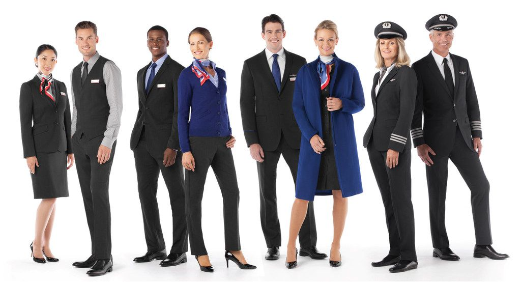 American Airlines is turning to Lands' End to replace uniforms that employees blamed for health problems and which left the airline and the previous supplier facing a lawsuit. Previous uniforms are shown. (American Airlines)