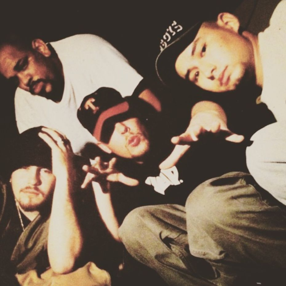 Mad Flava, from left : Hype Dawg , Kasaan, Cold Cris and DJ Baby G.