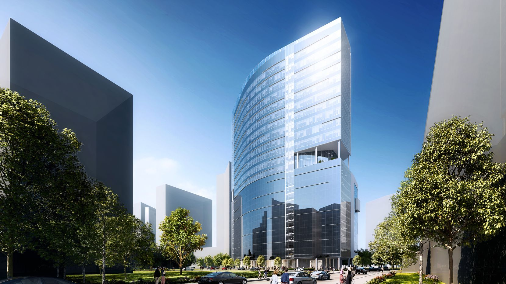 The 25-story Link at Uptown office tower will be built on North Akard Street.