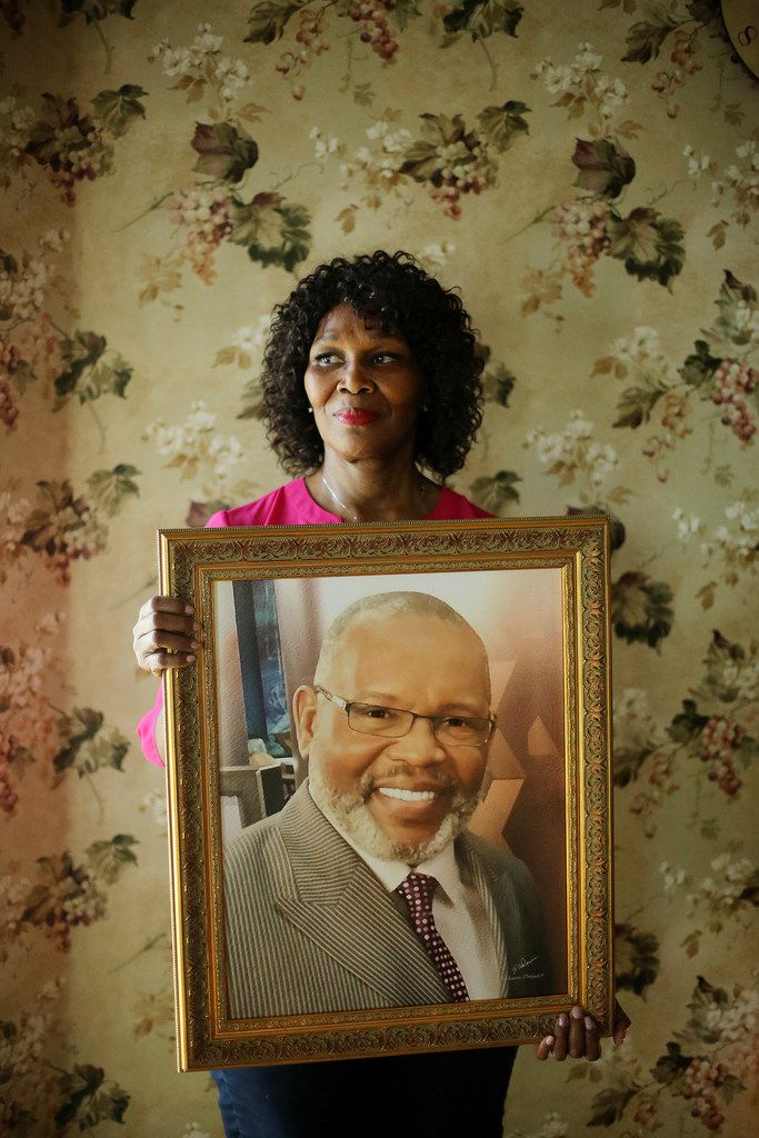 Billy Smith, who received a life sentence in 1987, spent nearly 20 years in prison for a rape he didn't commit and was released in 2006. Smith passed away in 2017. Kaye Smith, Billy's wife, was photographed in the Glenn Heights home she bought with Billy. She may have to sell the home to make ends meet. Before he died, he asked her not to get rid of the house.