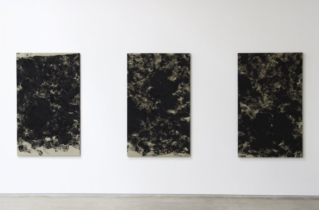 Phoebe Collings-James, London  Tar Baby #3, 2016  Tar Baby #4, 2016  Tar Baby #5, 2016  oil on linen   at Joan Davidow's Site131 gallery