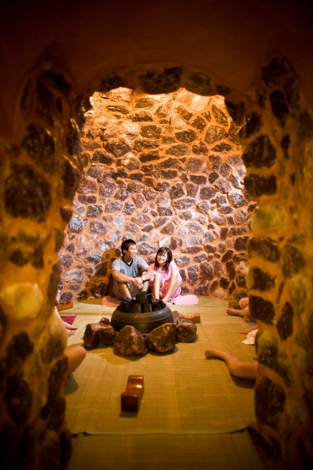 According to kingspa.com, the Salt Room is made from 350 million year old salt rocks that aid skin rejuvenation. I just liked the smell.
