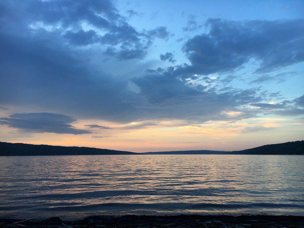 Sunset over Cayuga Lake in Ithaca, N.Y. Taken spring 2016.