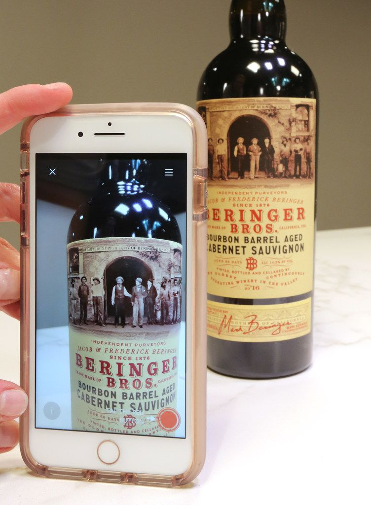 Beringer Bros. bottles draw you in to take their photograph.