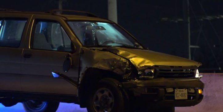 El Nissan Pathfinder involucrado en el atropellamiento. Hubo dos heridos a causa de un conductor ebrio.