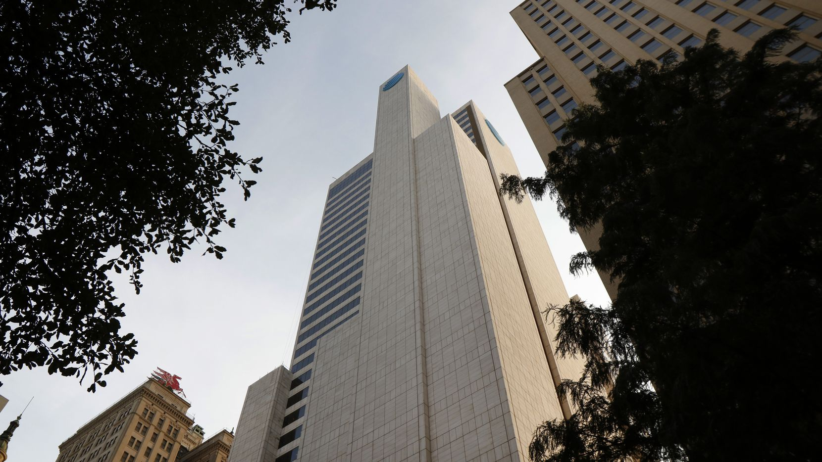 The 37-story Whitacre Tower was built in 1982 in downtown Dallas