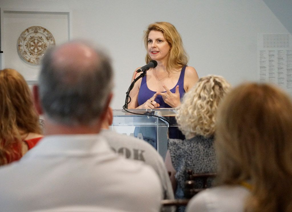 D-Day Girls author Sarah Rose speaks as part of The Inspired City session during the Dallas Festival of Books at the Dallas Museum of Art on June 1, 2019.