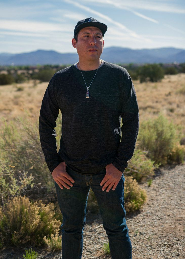 Tommy Orange  at the Indian American Institute of Art in Santa Fe, N.M., where he teaches, in May 2018.