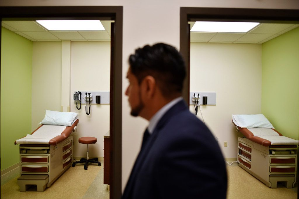 The new Sanitas Medical Center in Richardson, a joint venture with Blue Cross Blue Shield of Texas, has 10 exam rooms and wants to attract patients looking for insurance or a medical home.