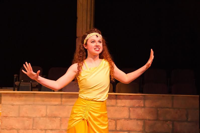 Grace Evans, a student at All Saints' Episcopal School was nominated for best actress in both the DSM and Betty Buckley competitions (photo by James Samis / Fluxtown Productions)
