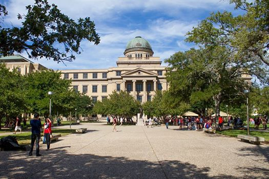 The Academic Building on the Texas A&M University campus