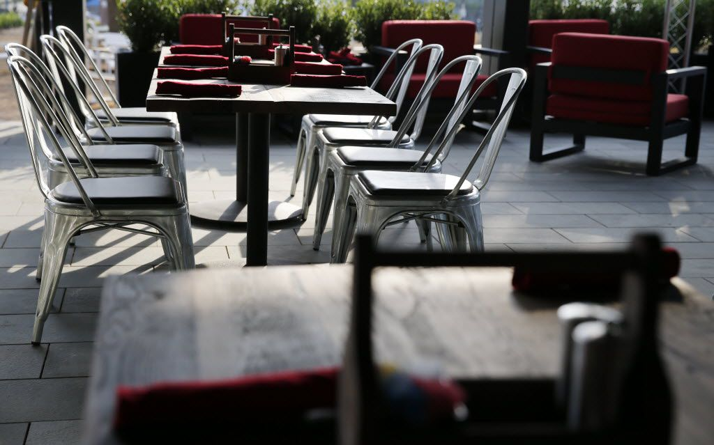 Patio area at the Happiest Hour in Dallas on Thursday, October 8, 2015.