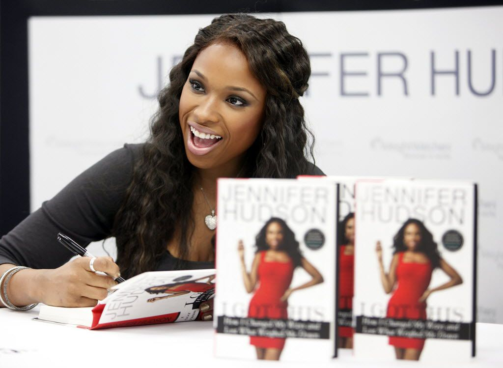 Grammy Award-winning artist Jennifer Hudson poses with her book I Got This: How I Changed My Ways and Lost What Weighed Me Down at the Weight Watchers in West Fort Worth.