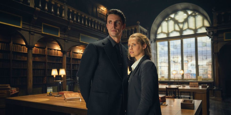 Matthew Goode and Teresa Palmer star in A Discovery of Witches, based on the books by Deborah Harkness.