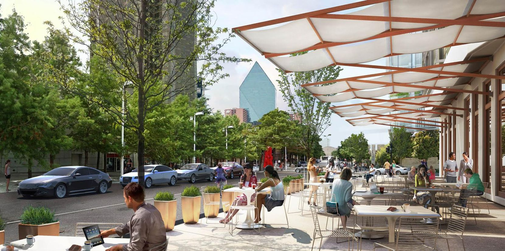 This would look good along Flora Street. It's in the new Arts District master plan. (Should be noted, this identical to a rendering NBBJ used for a project in Cambridge, Mass.)