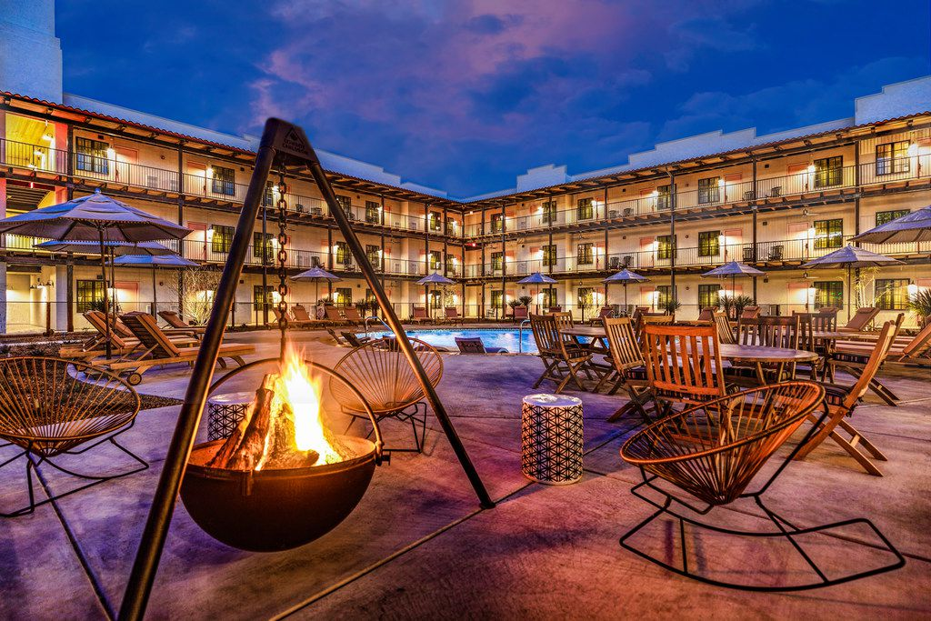 Texican Court, a new hotel in Las Colinas, opened in late 2018. It has 150 rooms, three courtyards and a restaurant and tequila bar called Two Mules Cantina.