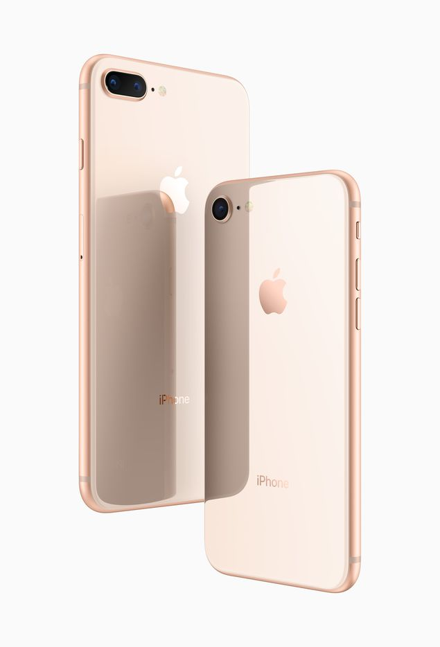 The new iPhones have glass backs.