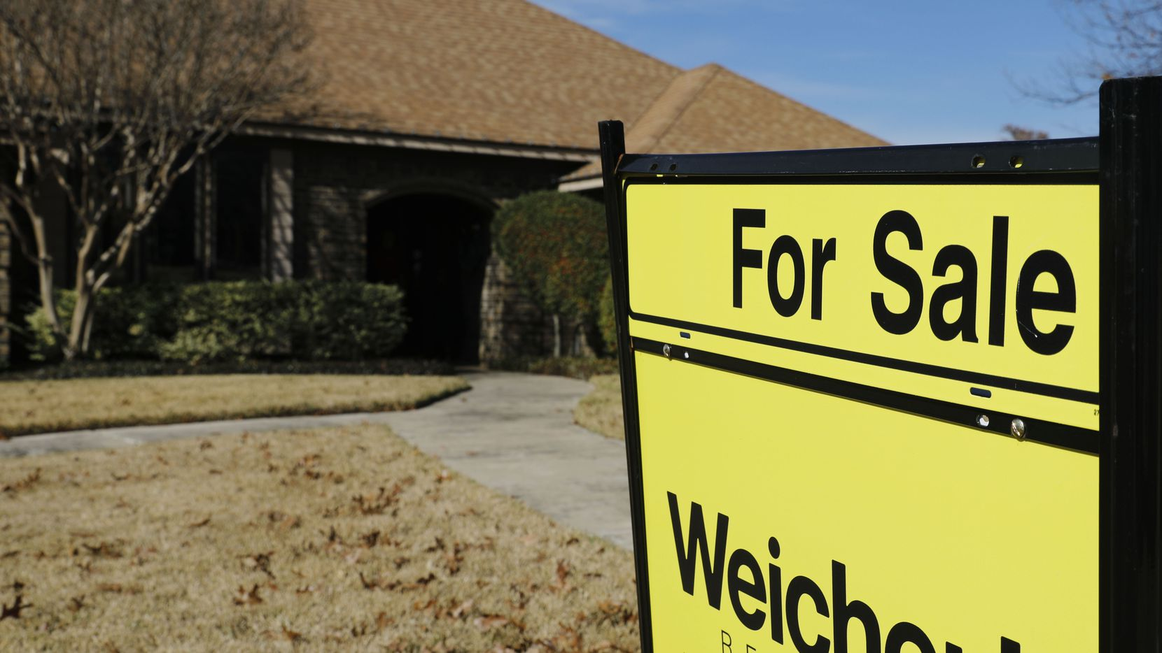 Dallas-area home prices were up 3% from a year ago in the latest S&P/Case-Shiller home price report.