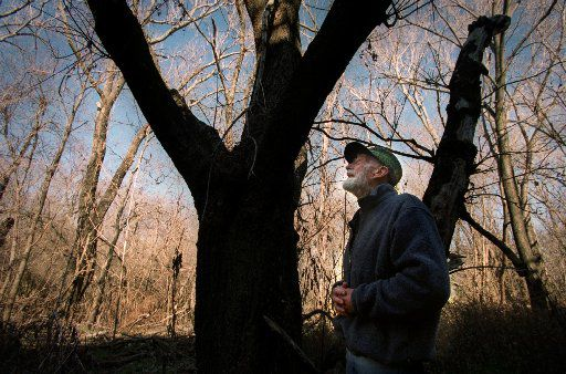 "The late Ned Fritz in the Great Trinity Forest. ""I feel part of this,"" said the man who, with wife, Genie, fought to save the woodlands when Dallas wouldn't."