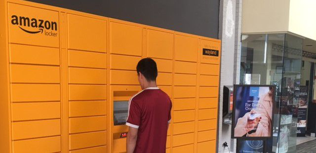 What are Amazon Lockers and why are Irving Mall, 7-Eleven