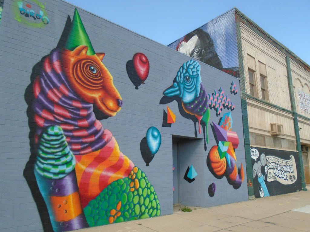 The new Grand River Creative Corridor displays an outdoor parade of eye-popping murals.