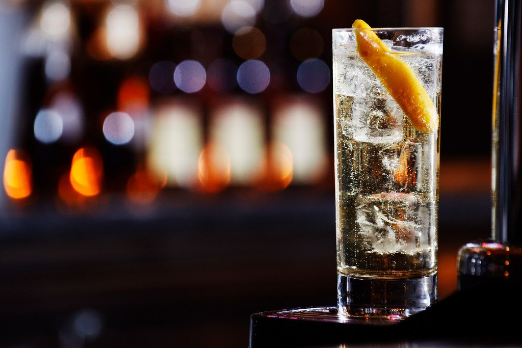 A Japanese Highball served chill, mixed and dispensed with Jim Beam Black, soda and an orange from a Highball machine at Town Hearth in Dallas, Monday Nov. 19, 2018.