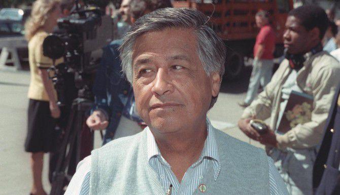 El líder sindical y activista César Chávez fue integrante de la Marina. (AP/RICHARD DREW)
