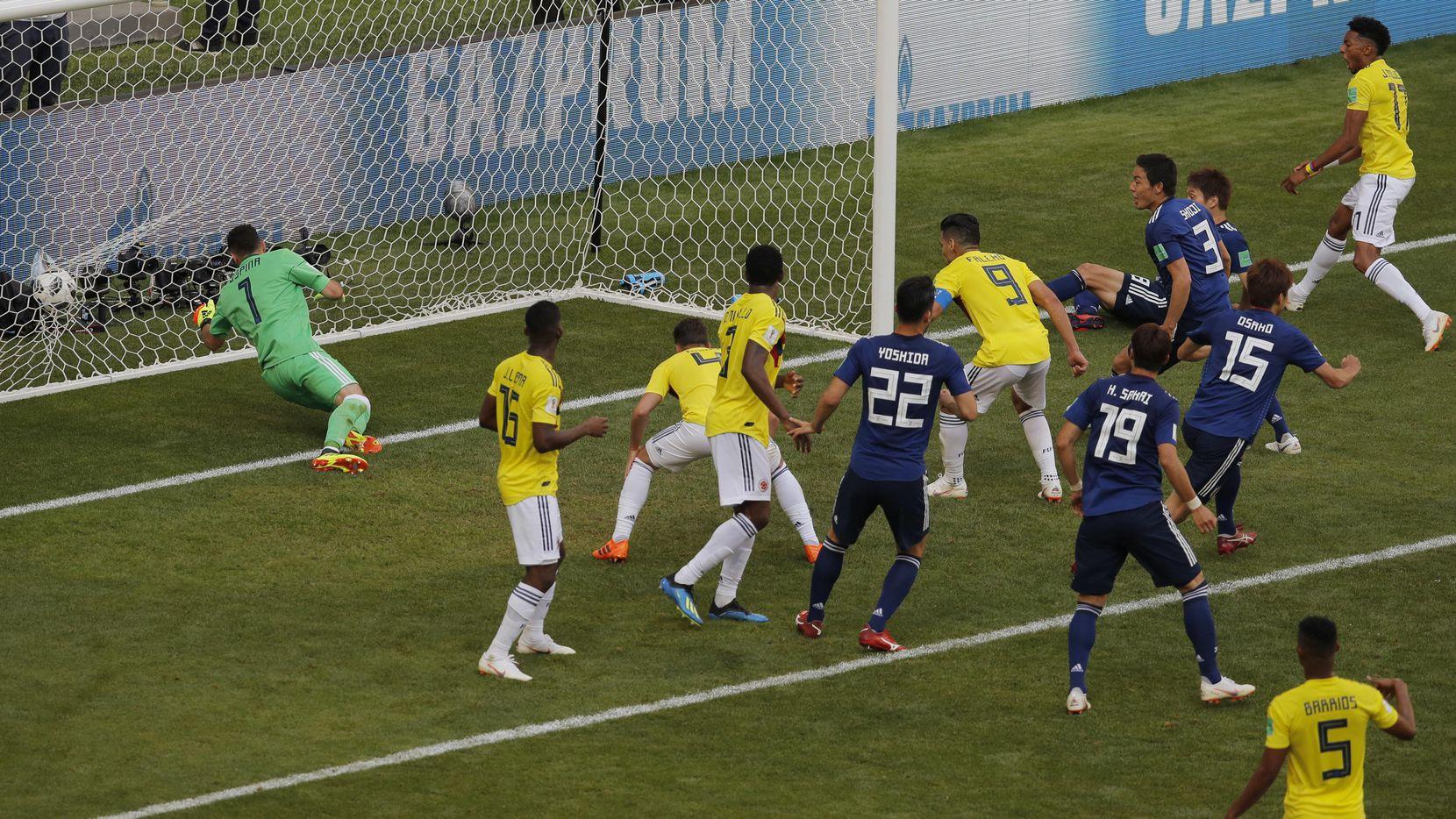 Colombia cayó 2-1 ante Japón el martes en la Mordavia Arena de Saransk, Rusia. (AP/Vadim Ghirda)