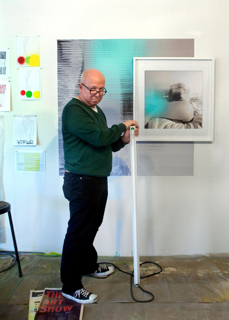 Artist John Pomara photographed in his studio by Nan Coulter
