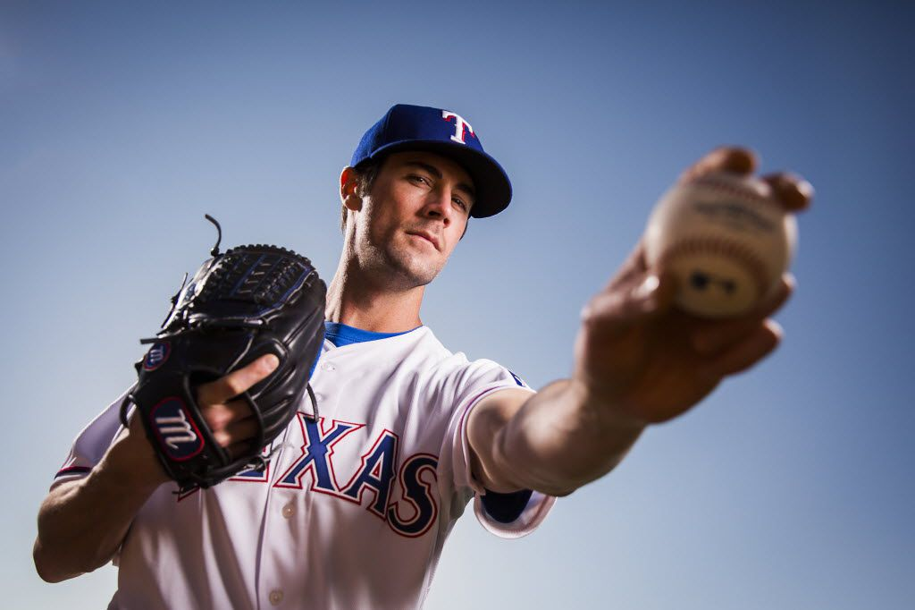 Texas Rangers pitcher Cole Hamels  photographed during spring training photo day at the team's training facility on Sunday, Feb. 28, 2016, in Surprise, Ariz. (Smiley N. Pool/The Dallas Morning News)