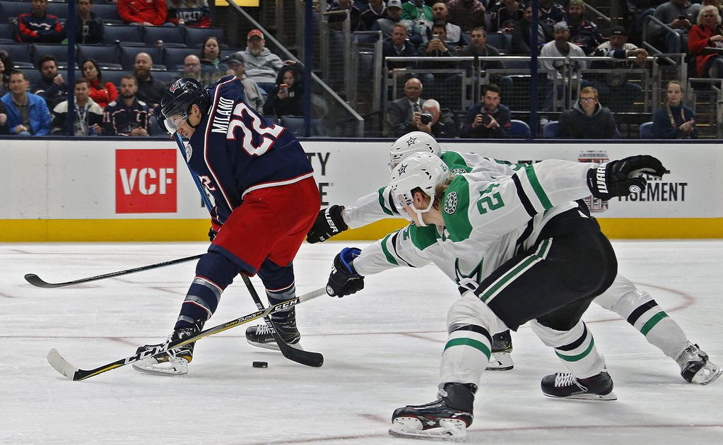 Watch: Columbus forward Sonny Milano scores ridiculous between-the-legs goal vs. Stars