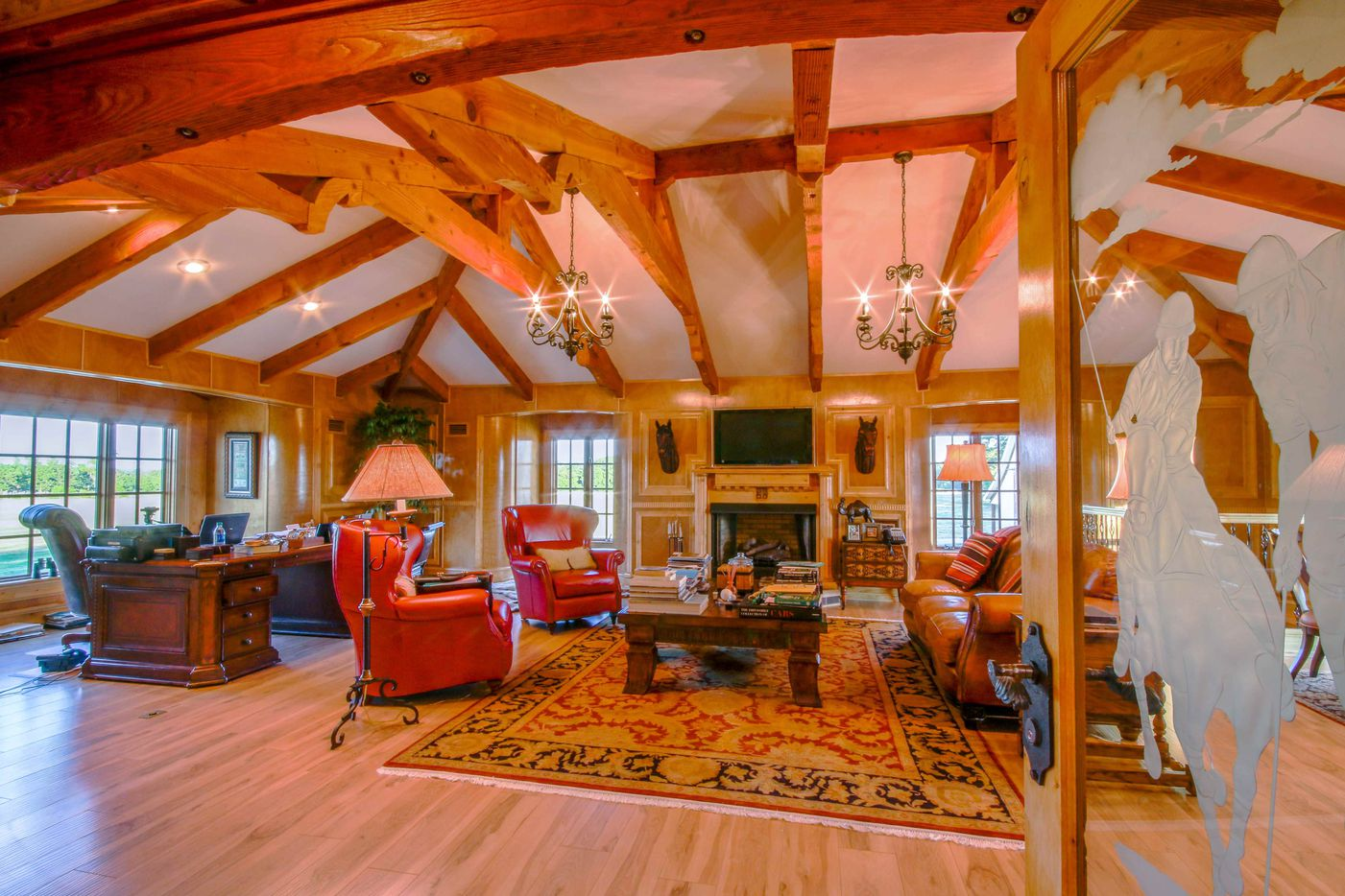 The main house is about 3,800 square feet.