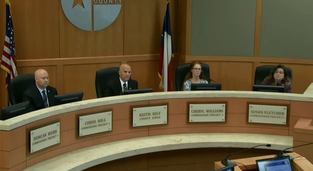 Collin County commissioners discussed building permits in extraterritorial jurisdictions at their Monday meeting.