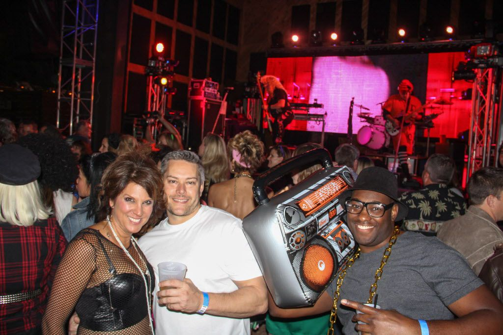 Cheryl Rios, Denny Clovis and Willie Major attended the #TBT to the '80s party on Thursday at the Rustic.