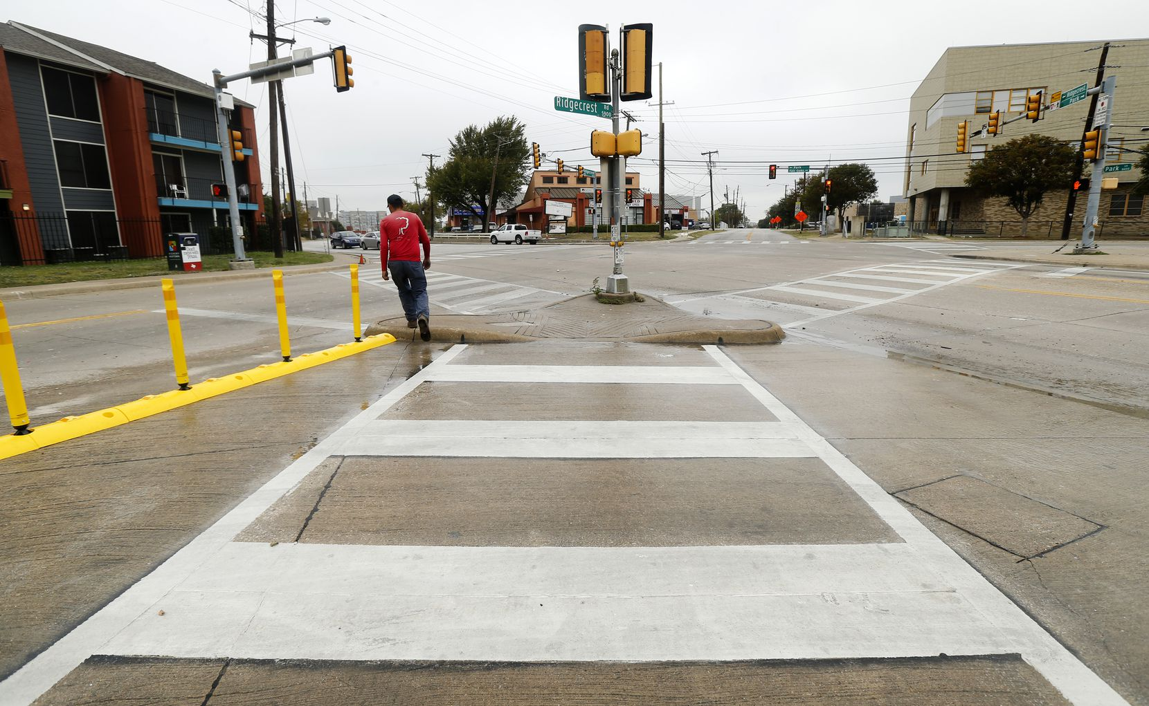 A shot of the same Five Points street intersection in the Vickery Meadow area as pictured above before the work began.