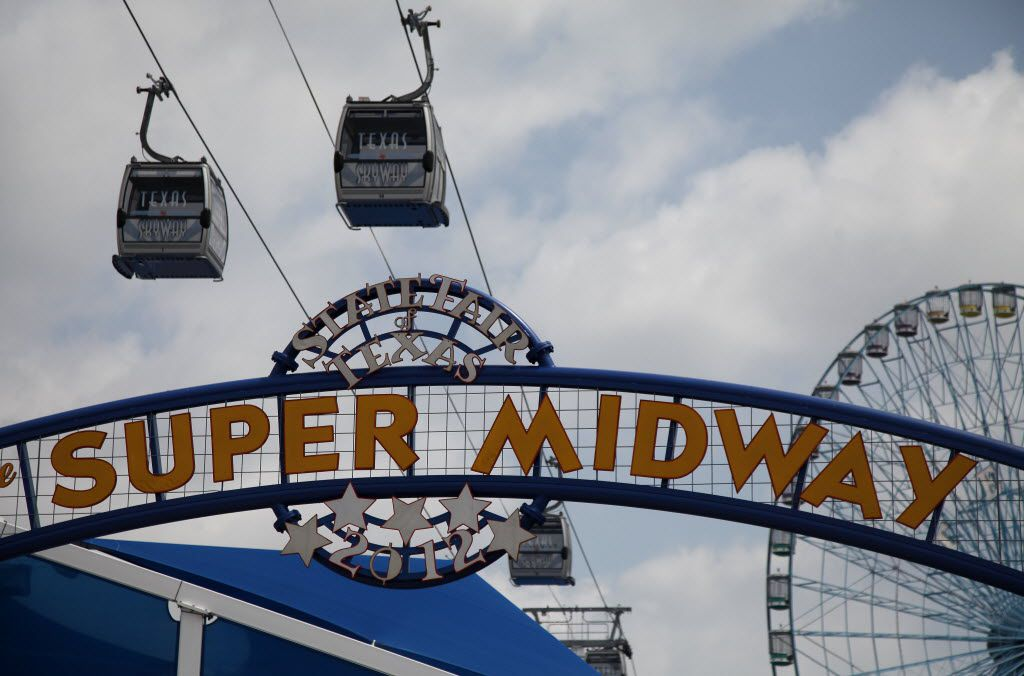 The Texas Skyway travels above the Midway