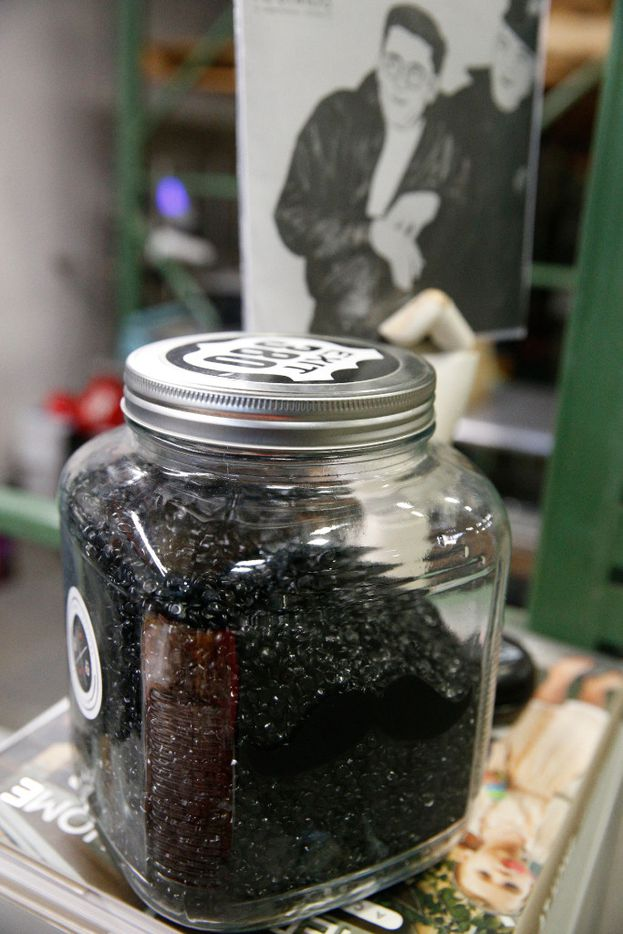 The pressing process starts with vinyl pellets, which are melted down to make records.