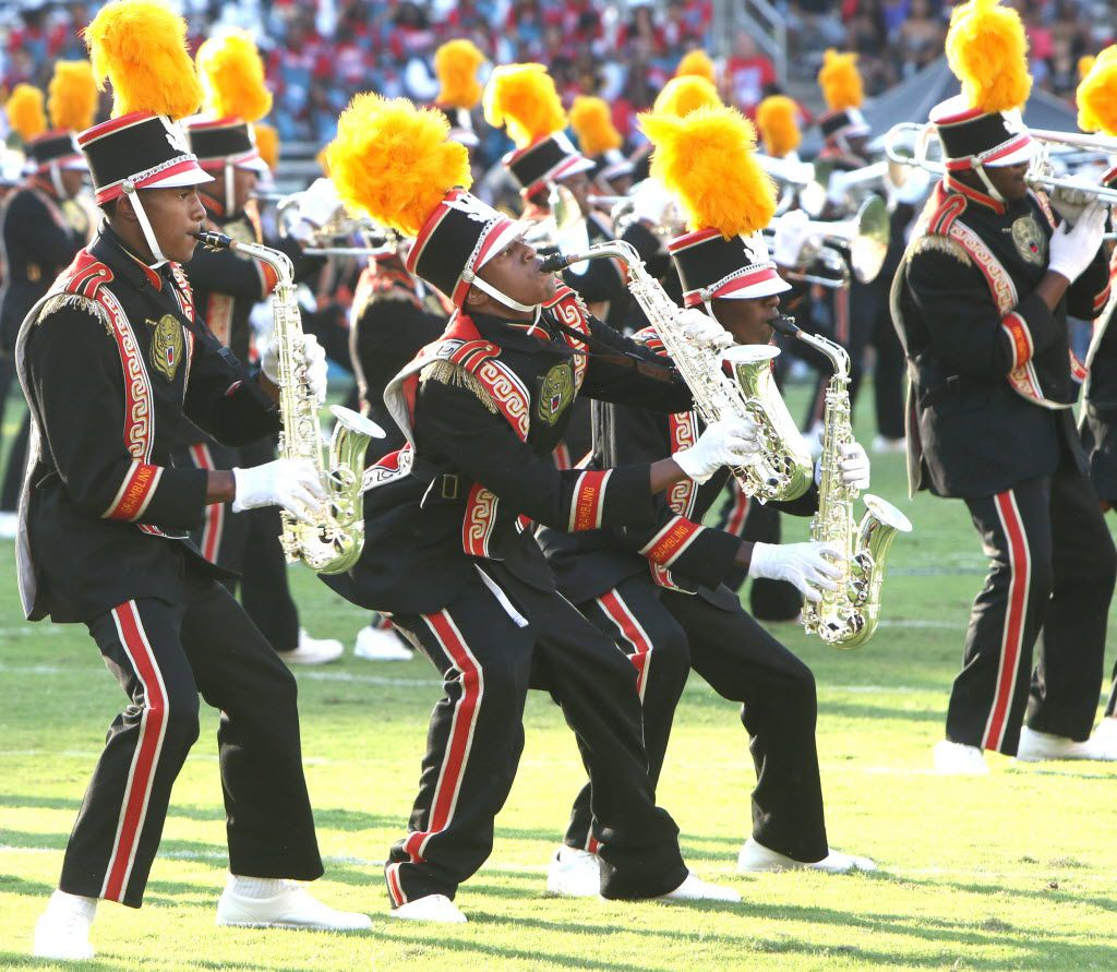 Members of the Grambling band perform during the halftime of the Prairie View A&M-Grambling game in 2015.