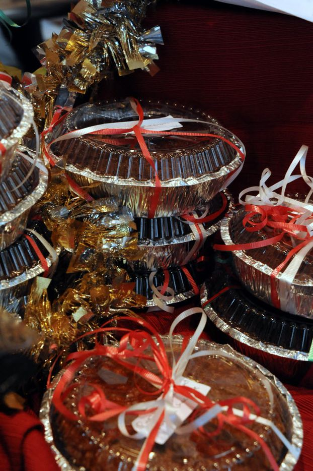 Pies are sold at the NorthPark Center bake sale befitting the North Texas Food Bank in Dallas, TX on December 19, 2015. (Alexandra Olivia/ Special Contributor)